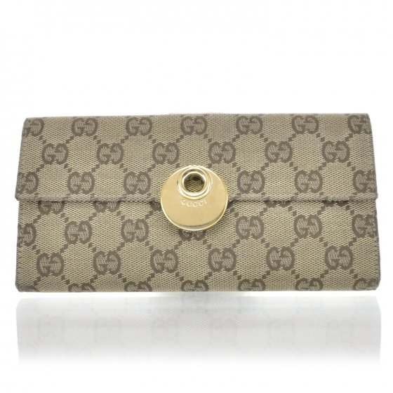 GUCCI Monogram Continental Eclipse Wallet Pink
