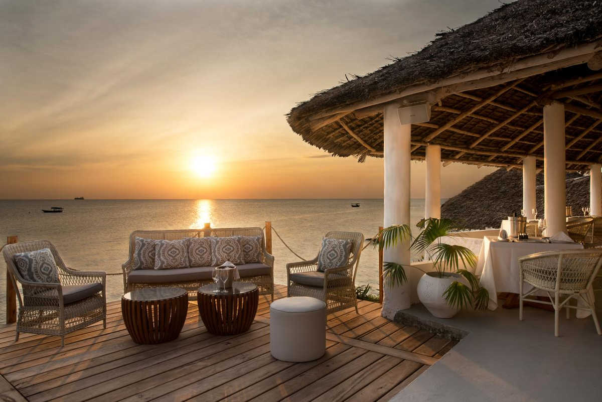 Chuini Zanzibar Beach Lodge, Relax and enjoy the beautiful sunset