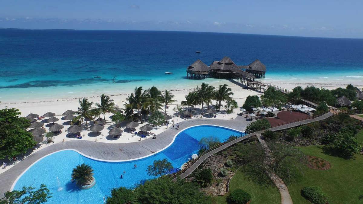 Five Star Resort Diamonds La Gemma dell'Est in Zanzibar, Beach View