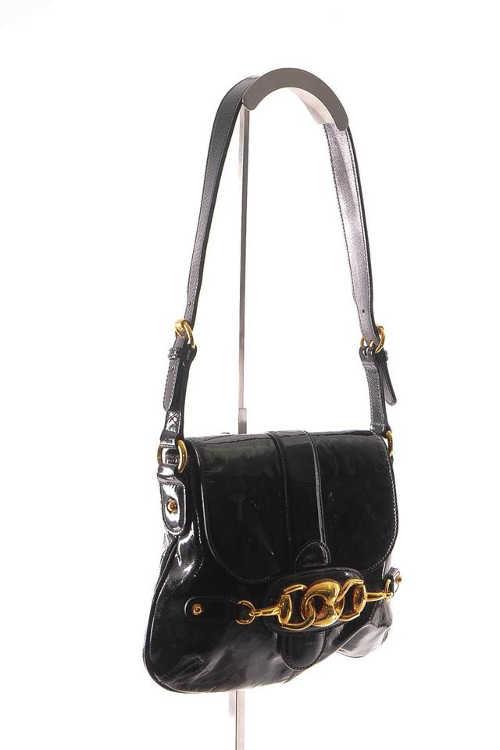 Gucci Horsebit Flap Gold Shoulder Bag