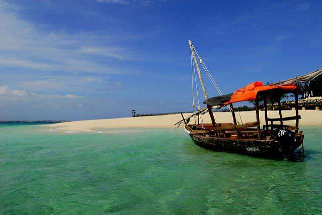 Beach on Prison Island, Zanzibar