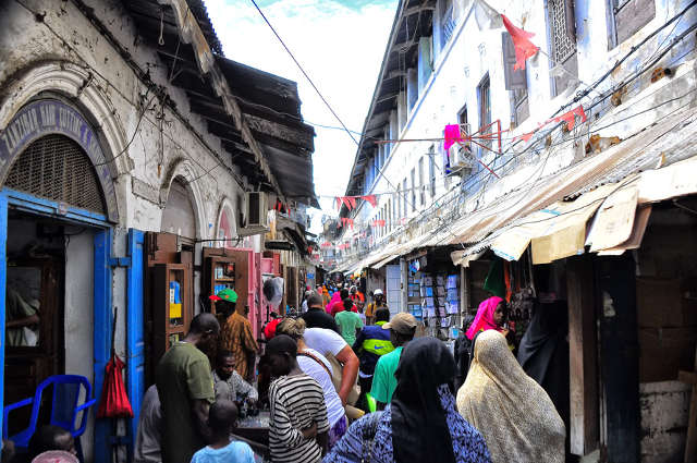 People Shopping in Stone Town, Zanzibar