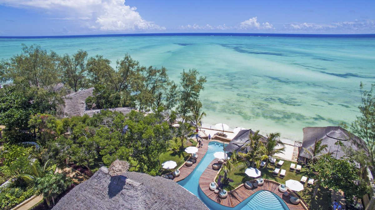 Tulia Zanzibar, 5 Star Resort, Beach View from the Top