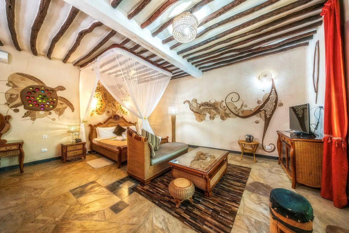 Zanzi Resort, Five Star Rated Resort in Zanzibar, Room Decoration