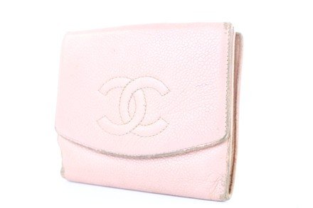 Chanel CC Compact Wallet Pink Caviar