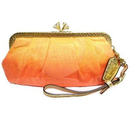Coach - Orange Ombre Clutch