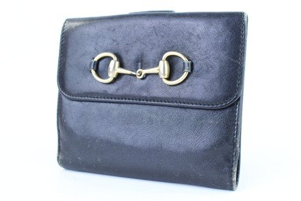 Gucci Horsebit Black Leather Clutch