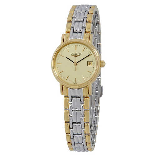 Longines Presence Champagne Dial Ladies Two Tone Watch