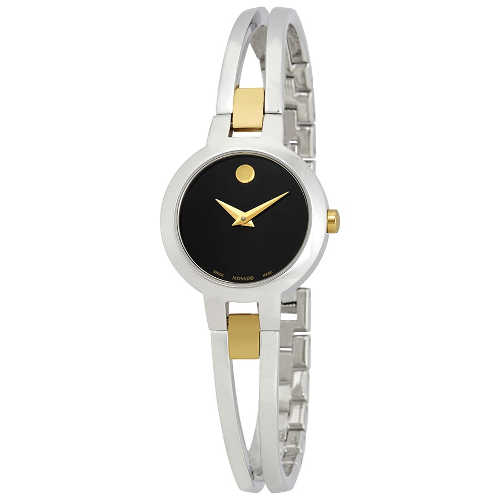 MOVADO Amorosa Black Dial Ladies Watch