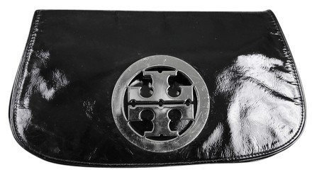 Tory Burch - Patent Black Leather Clutch