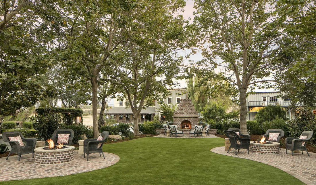Santa Ynez Inn, Luxury Boutique Hotel, Garden View