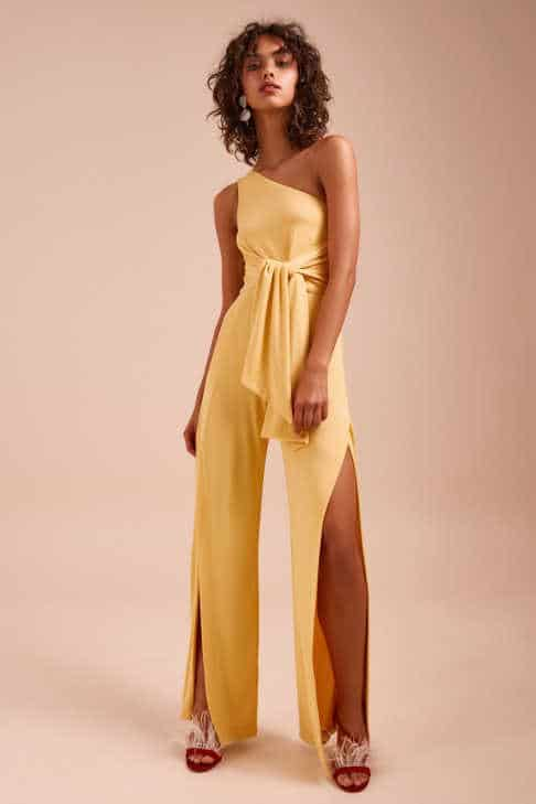 C/MEO COLLECTIVE - RECOLLECT JUMPSUIT HONEY
